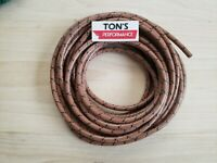 7mm Cloth Spark plug wire Brown with black tracers 25 feet woven copper core