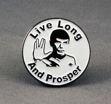 Metal Enamel Pin Badge Brooch Live Long and Prosper Treck Roundal