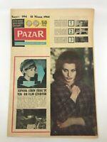 PAZAR #394 - Turkish Magazine - 1960s - SOPHIA LOREN COVER - Alfred Hitchcock
