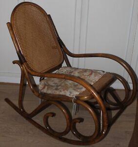 Rocking-chair Michael Thonet Rétro Fauteuil Cannage Original Ancien Rare