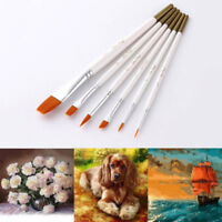 6Pcs/set Water Coloring Brush Pens Nylon Painting Brushes Oil Watercolor Brush