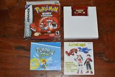 Pokemon Ruby Version Usa Complete in Box Game Boy Advance GBA Rubino Battery New