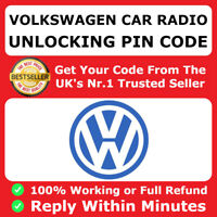 VW Radio Code Unlock Decode Service RCD510 RCD310 RNS315 Beta Gamma Alpha FAST ✅