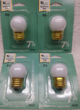 7.5W S11 Incandescent Appliance Night Light Bulb Soft White Lot of 4