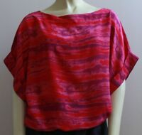 Women's Kimono Sleeve Top, Blouson Top, Boat Neck Top, Loose Fit Top, Red Top