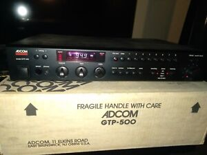 Adcom GTP-500 2 Channel Preamp with Tuner, Phono, other inputs
