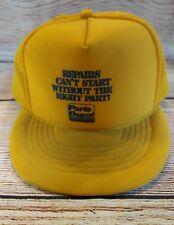 1774ca5e49e1e Vintage PARTS DEPOT Trucker Hat Snapback Cap Mesh Yellow