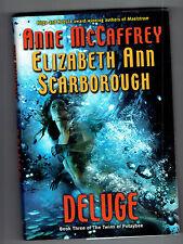 ANNE MCCAFFREY  hcdj Deluge Bk. 3 Twins of Petaybee Elizabeth Ann Scarborough