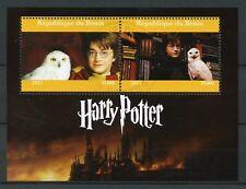 Benin 2017 CTO Harry Potter Daniel Radcliffe 2v Film Movies Owls Birds Stamps