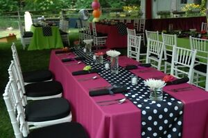20 Polka Dot Satin Table Runners Luxury Wedding Birthday Decoration Banquet