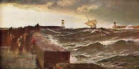 EDWIN ELLIS 1895 Oil Painting  AFTER THREE DAYS GALE Vintage Art 1930 Book Print