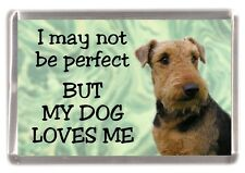 """Airedale Terrier Dog Fridge Magnet """"I may not be perfect BUT......"""" by Starprint"""