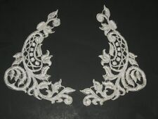 "Ivory venise lace applique pair approximately 8 1/2"" wide x 5 1/2"" long"