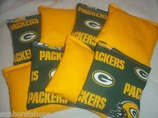 ACA Regulation Corn Hole Bags Set of 8 GREEN BAY PACKERS & YELLOW Bean Bag Baggo