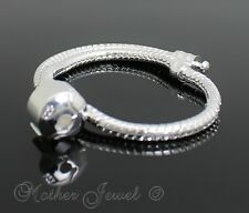 21CM SILVER FILLED POPULAR EUROPEAN UNISEX SNAP CLASP BRACELET ( 925 STAMPED )