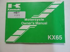 2004 Kawasaki KX65 Owner's Manual KX65-A5 Part No. 99987-1185 KAWASAKI OEM x