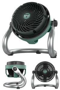 EXO51 7.5 in Small Heavy-Duty Floor Fan Air Circulator Shop Fan Green New in Box