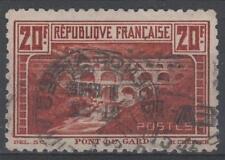 "FRANCE STAMP TIMBRE N°262B ""PONT DU GARD 20F DENTELE 11 "" OBLITERE TB   M002"