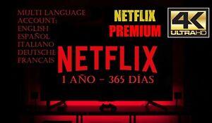 NETFLIX - 1 AÑO - NETFLIX