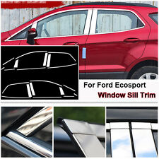 Full Window Middle Pillar Molding Sill Trim Stainless Steel For Ford Ecosport