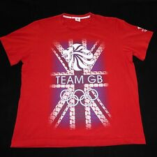 Olympics Team Great Britian GB Short Sleeve Red Graphic T Shirt Mens XL Cotton