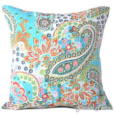 Cushion Cover Indian Handmade Kantha Work Cotton Vintage Pillow Cases Home Decor
