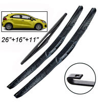 Front Rear Windscreen Wiper Blades Set For Kia Rio UB 2011-2017 61 62 1.1 1.4