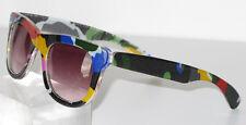 Cacharel Paris Lady Sunglasses Vintage Multicolor Oversized Brown Gradient Lens