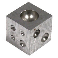 Craft and Hobby 12 Dome Metalworking Dapping Block Cube Carbon Steel - 1 inch