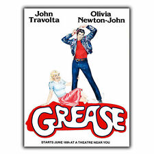 GREASE - METAL SIGN WALL PLAQUE Film Movie Cinema Advert poster print decor