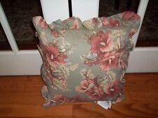 Nwt Ralph Lauren Shetland Sage Floral Ruffle Square Decorative Bed Pillow