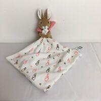 M&S Peter Rabbit Beatrix Potter Pink Flopsy Bunny Rabbit Baby Comforter Soft Toy