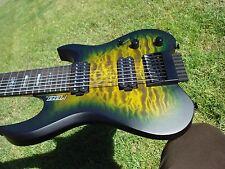 Kiesel Vader V8 8 String Headless Custom Shop Lizardburst Quilt