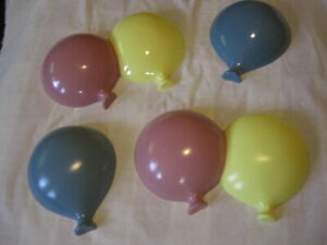 Burwood Product Plastic Balloons Baby Kids Room Wall Decoration Pink Blue Yellow