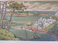 HENRI RIVIERE gravure lithographie bretonne bretagne marine 1900 L'île