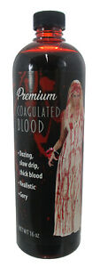 Fake Coagulated Blood Gel Bottle Halloween Makeup Special Effects Appliance