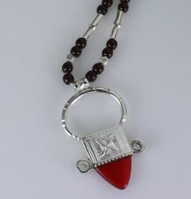"necklace. Handmade African Tribal Sterling silver ""ingall"" Tuareg"