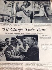 Articolo 1962 Harold Johnson PUGILE PUGILATO a Berlino gretzchel H MARTIN M60101