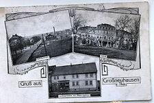 24736 Gruß aus Großneuhausen Thüringen Schloß Bahnhofstr. Laden Eichhorn 1923