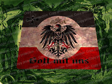 WWI German Patriotic Mouse Pad 1914/18 World War 1 God with Us German Eagle