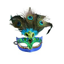 Peacock Feathers Mask Woman Masquerade Masks Half Face Mask for Party AM3