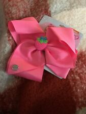 Jojo Siwa Scented Strawberry Hot Pink Large Signature Hair Bow-New!