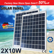 2X10W 12V Solar Panel Kit MONO Caravan Camping Power Battery Charger Mini 4X4