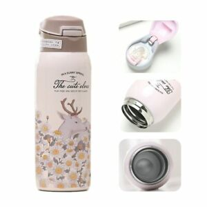 380/450Ml Thermos Stainless Steel Water Bottle with Straw Vacuum Travel Mugs
