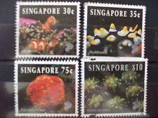 SINGAPORE-1994 Reef Life Part Set of 4vs FU Cat 13.95 (1Y7)