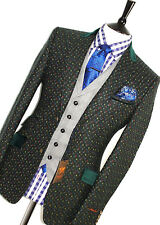 BNWT MENS TED BAKER GLOBAL COLLECTION TWEED VELVEL COLLAR SUIT JACKET BLAZER 36R