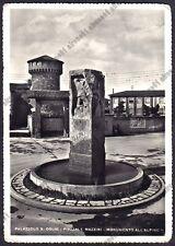 BRESCIA PALAZZOLO SULL'OGLIO 19 MONUMENTO all'ALPINO Cartolina FOTOGR viagg 1956