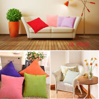 "45*45"" Velvet Cushion Solid Color Throw Pillow Case Cover Home Sofa Bed Decor US"