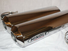 Hindle 16x2 Oval Polished Undertail Stainless Muffler Set - GPS162OVUY