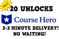 Course Hero Account Access w/ 20 Unlocks - INSTANT DELIVERY TO EMAIL 24/7